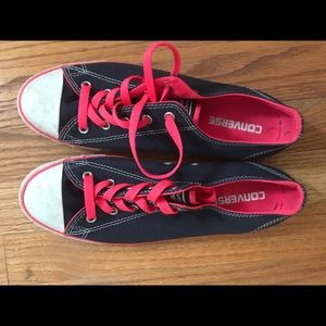 Used Converse Navy with Fun Hot Pink accents.